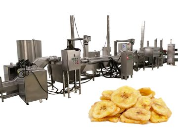Fully-automatic fried banana chips line