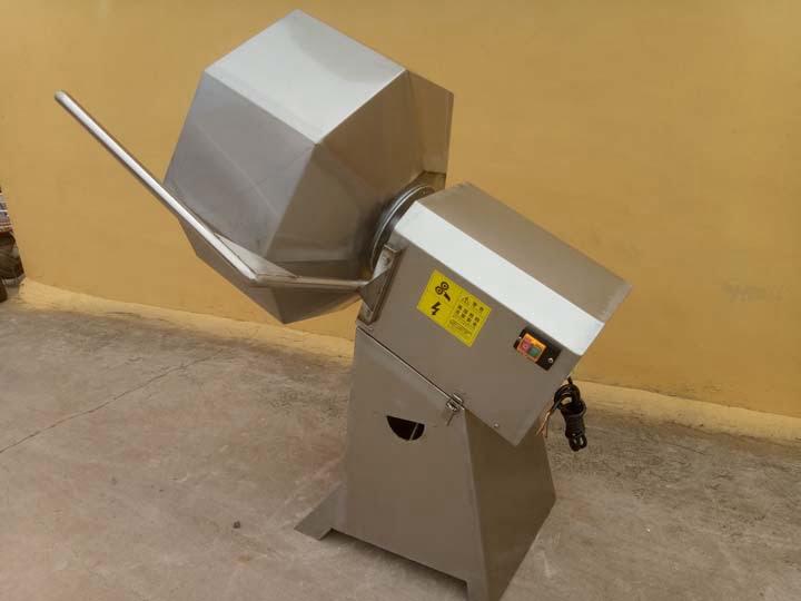 Octagonal seasoning machine for potato chips