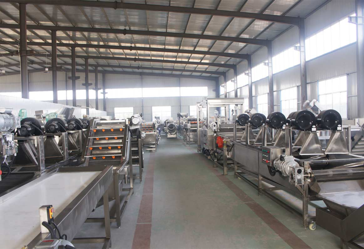 Taizy potatoes processing machinery factory