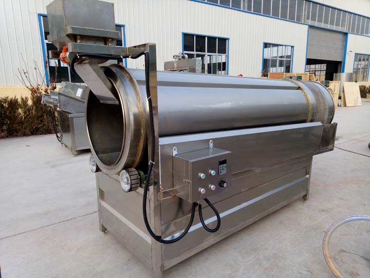 continuous rotary seasoning machine for chips line