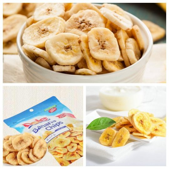 delicious fried banana chips made by Taizy machines