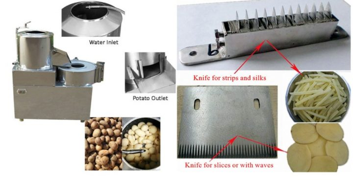 potato washing and peeling machine details