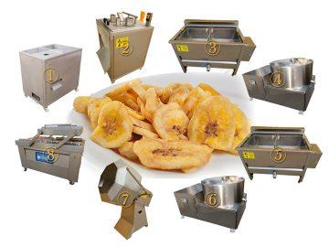 semi-automatic fried banana chips line plant