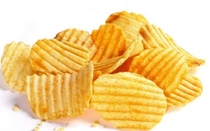 wave shape potato chips made by chips line