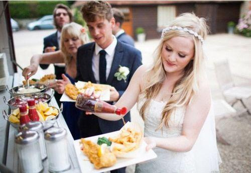 Fish & chips in weddings