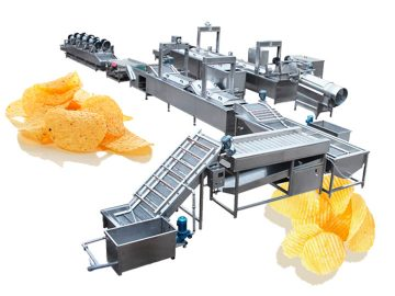 Fully-automtaic potato chips production line