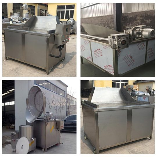 automatic fryer machines with different types