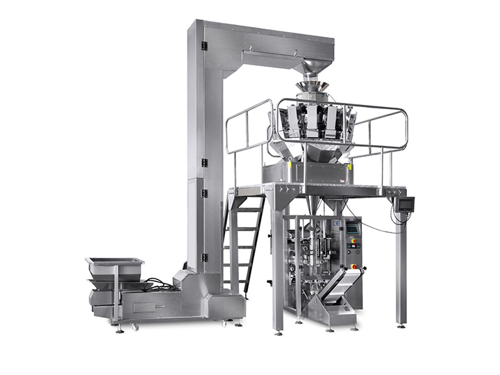 automatic potato chips and fries packaging machine