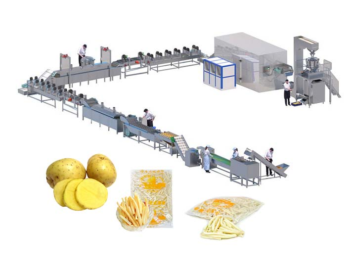complete frozen french fries processing plant manufacture