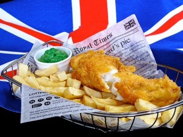 delicious fish & chips made in Britain street