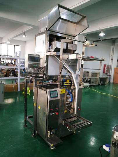 double-bucket potato chip packaging machine