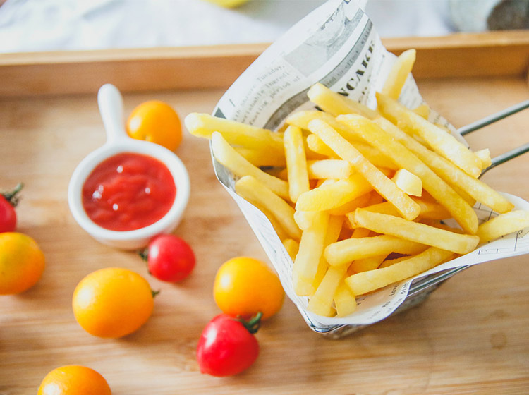 french fries made by the french fry machines