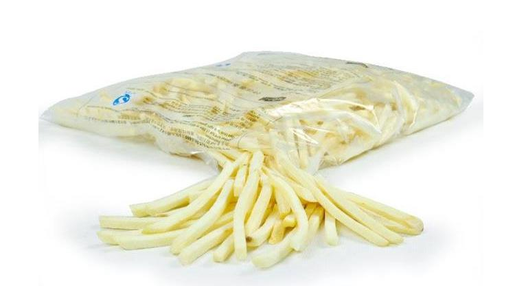 frozen french fries frozen by industrial freezer