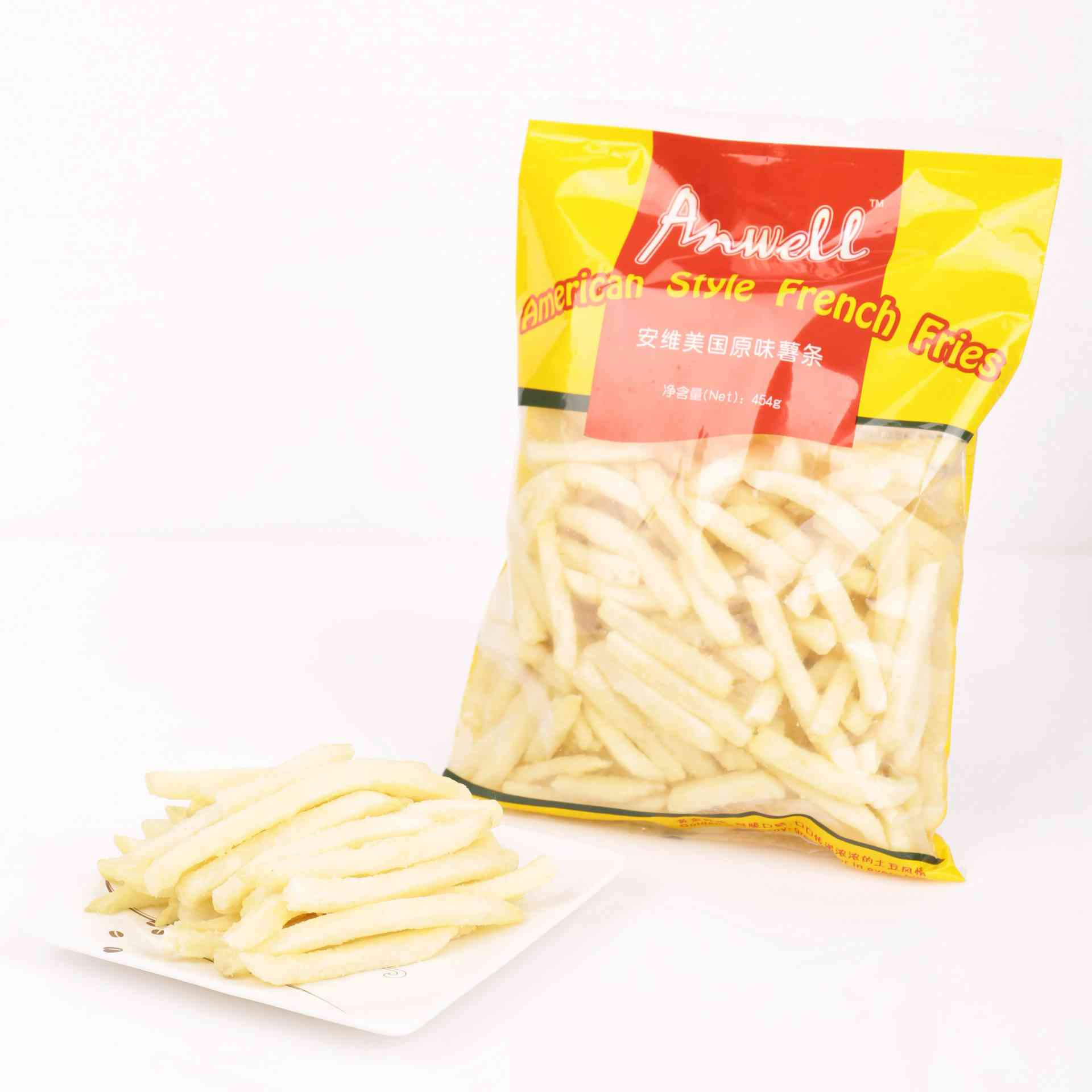 frozen french fries made by quick freezer machine