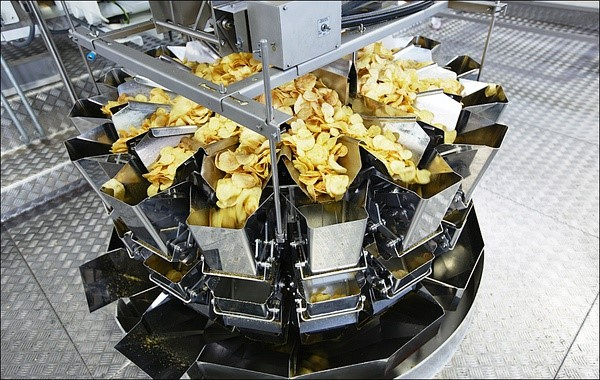 potato chips packaging process