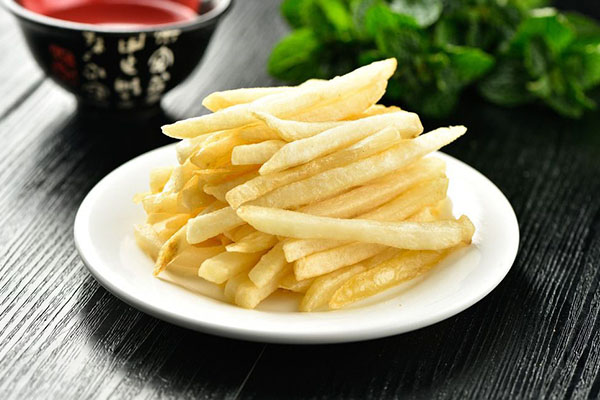 re-fried frozen french fries for eating