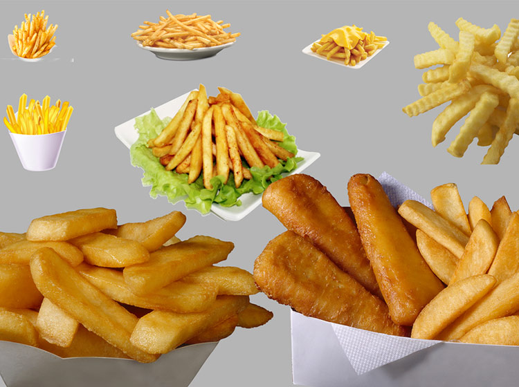 various french fries with good tastes