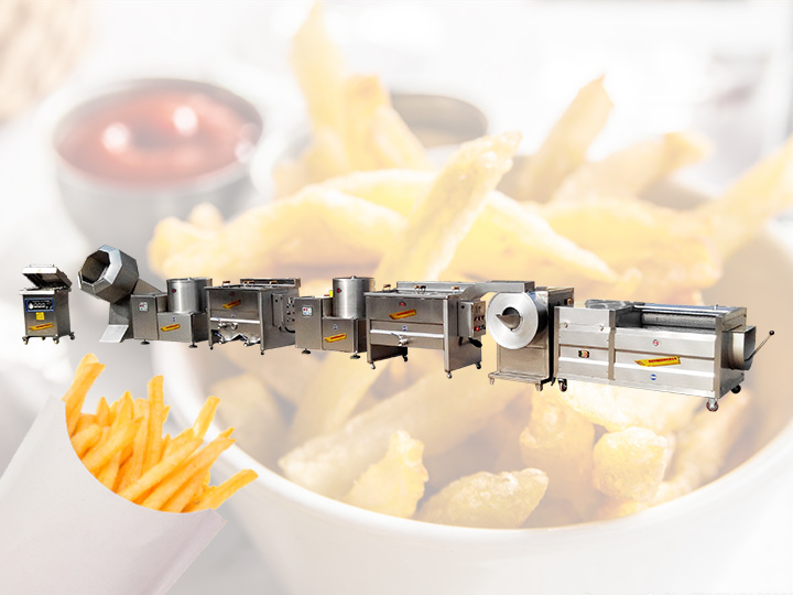 whole set of french fries making machines for sale