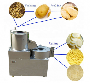 potato washing peeling and slicing machine