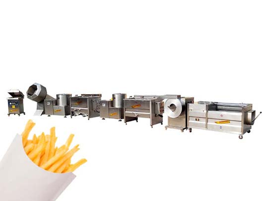 semi-automatic frozen french fries processing plant