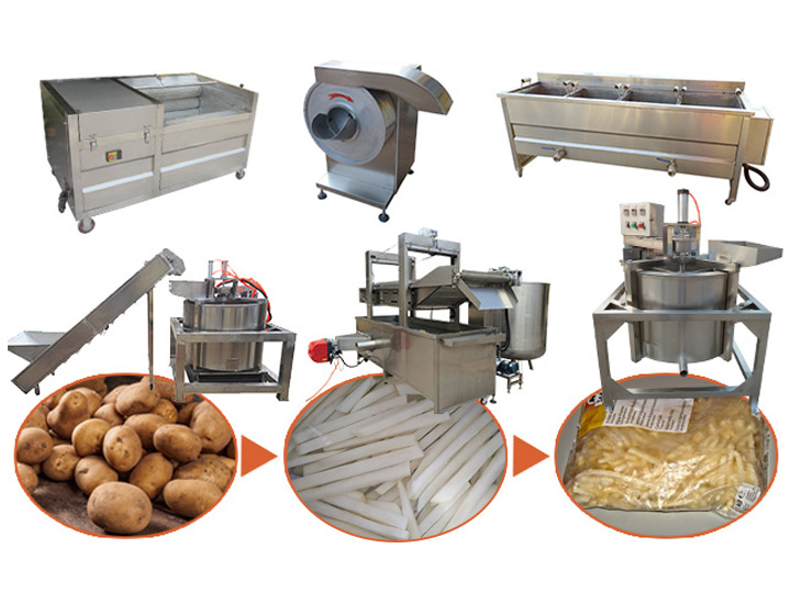 Taizy small frozen french fries processing plant