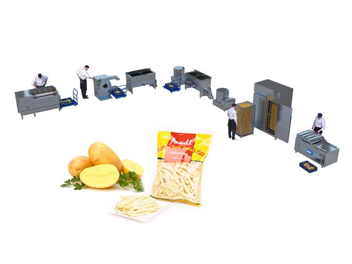 small frozen french fries production line supplier