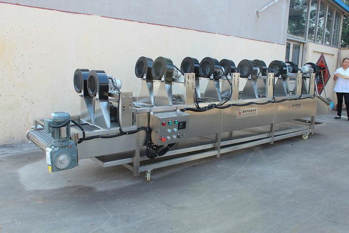 Air-cooled dewatering machine