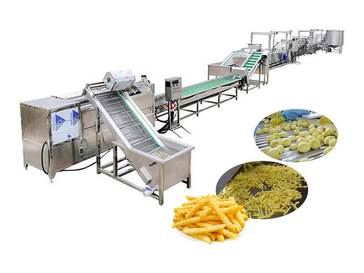 200kg per hour frozen french fries processing plant
