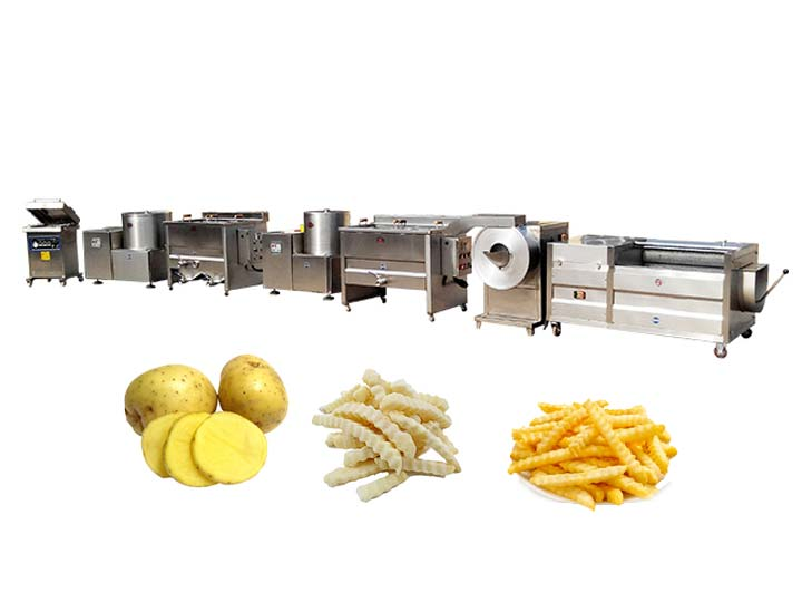 50kg per hour small frozen french fries line