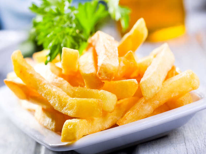 fries potatoes made by french fries making machine