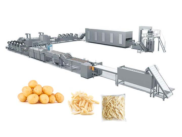 large frozen french fries processing plant design of Taizy