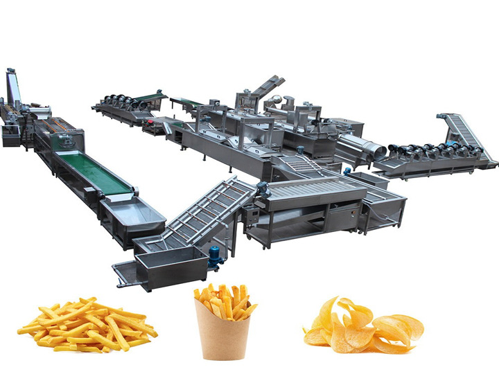 french fries production line process